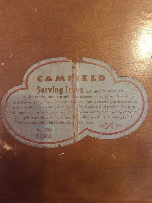 Vintage Camfield Tego Bonded Plywood Tray for A-B Stoves Inc.