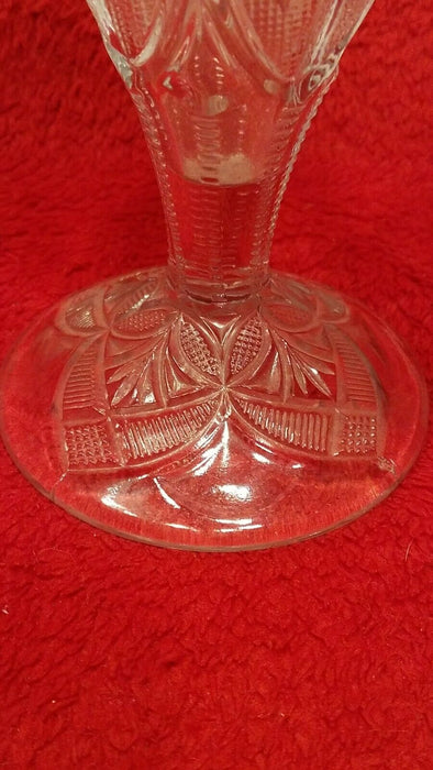Etched Crystal Flower Vase