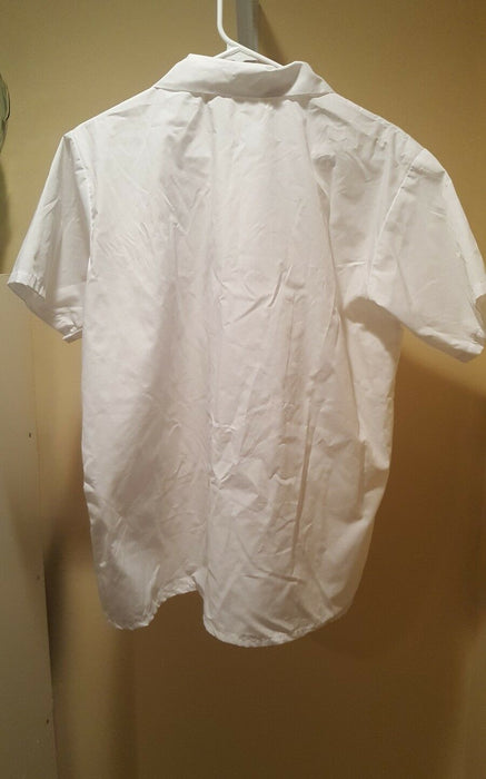 Lot 3:  Men's White Abaccus Short Sleeve Snap Closure Front Hospitality Shirt