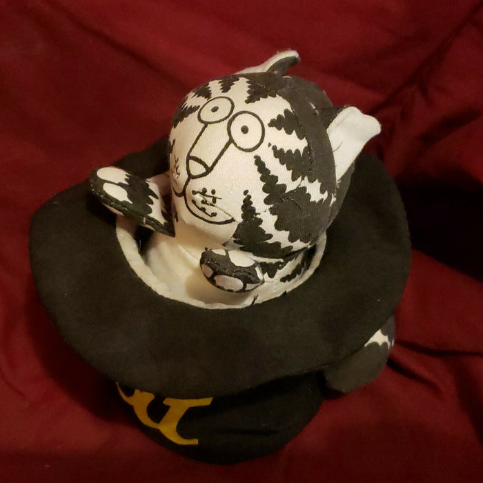 "B KLIBAN ""CAT"" Applause Vintage 1980 Stuffed Fabric Cat In TOP HAT With Tag"