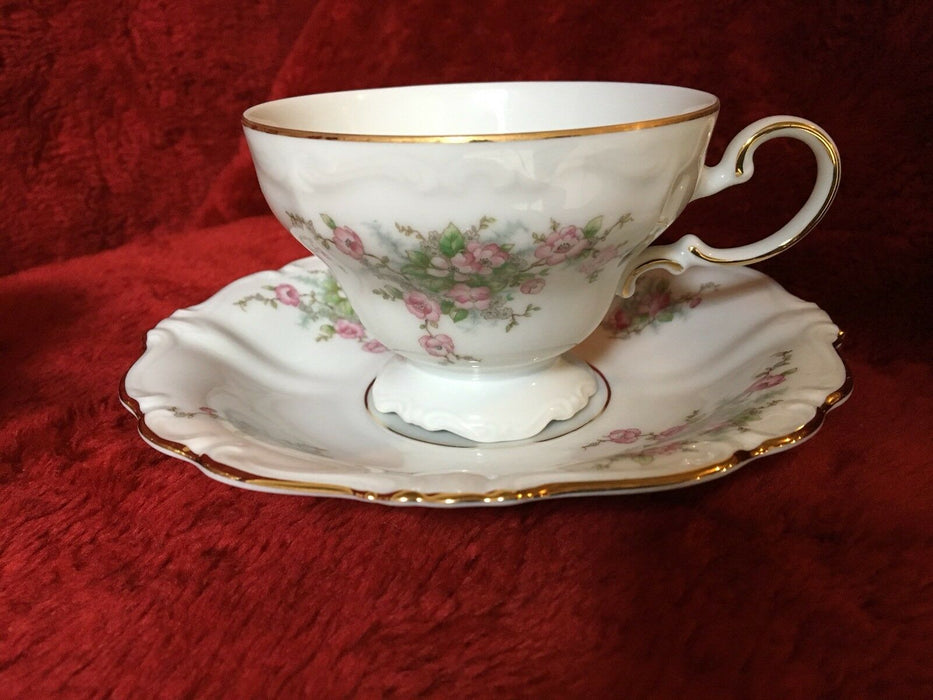 Lot 24: Johann Haviland Bavaria Bridal Rose Gold Trim Tea/Coffee Cup and Saucer