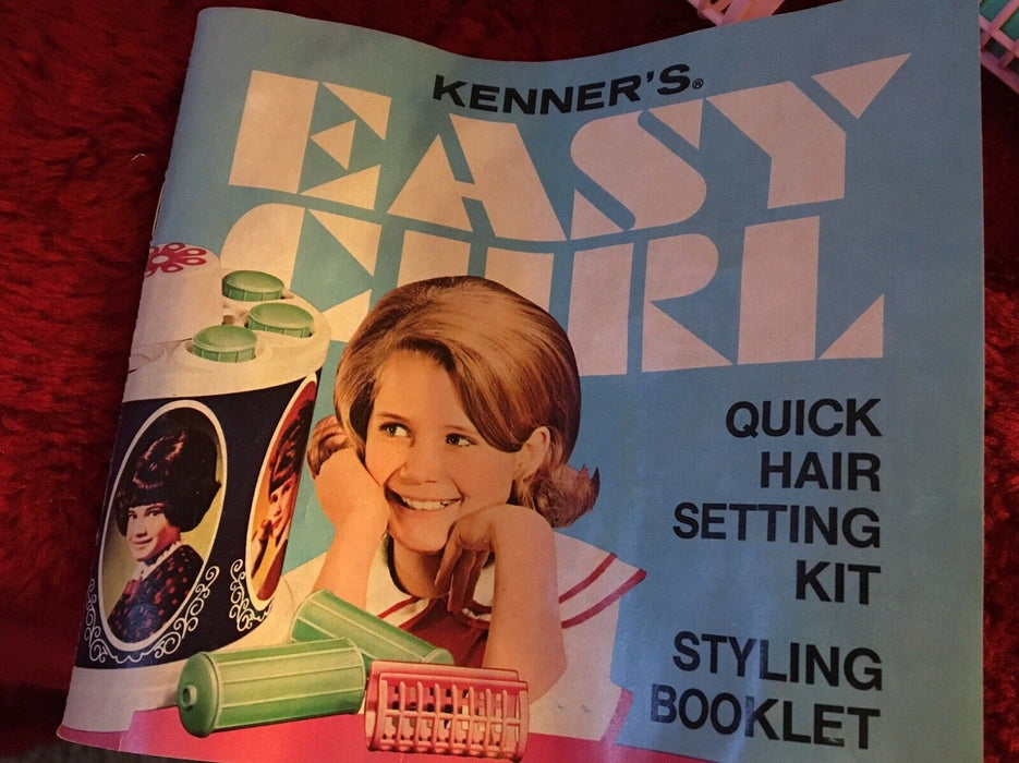 1968 Kenner's New Easy Curl Quick Hair Setting Kit Box Kenner Vintage Working