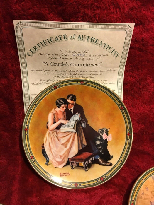 "Lot 8:  Norman Rockwell ""American Dream"" Series Collector Plates"
