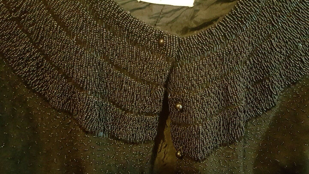 Isabel Gerhart Black Beaded Sweater size XS
