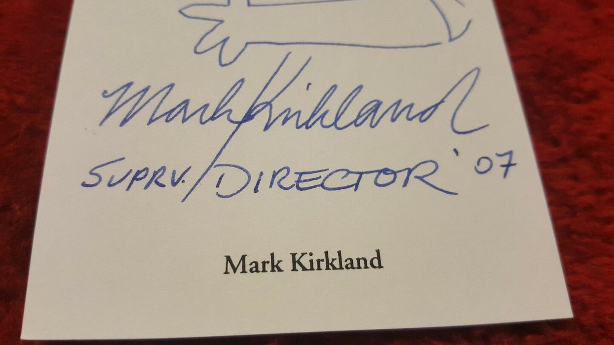 The Simpsons Signed by Director Mark Kirkland 3.5x8 Index SKETCH Card, Bart