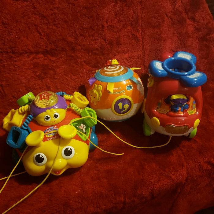 Lot 3: Vtech Crazy Legs, Move & Crawl Ball, Helicopter Learning Toys