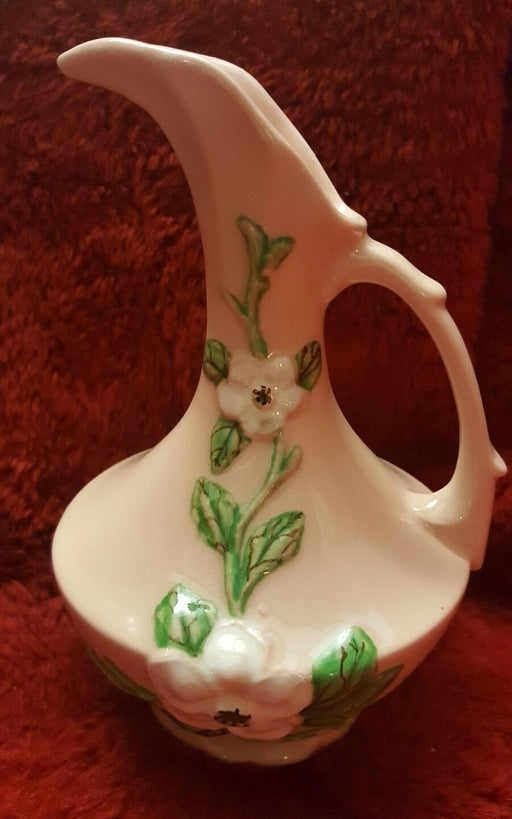 "Vintage Hull Art Pottery Magnolia Small Ewer Pitcher No. P-9 Pink, 6.5"" tall"
