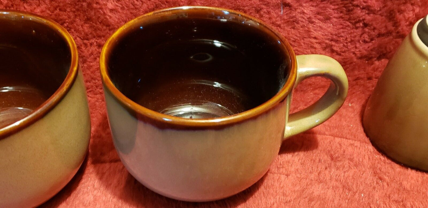 Lot 4: SANGO Nova Brown Coffee Mug x2 & Soup Cup Extra Large x2 # 4933