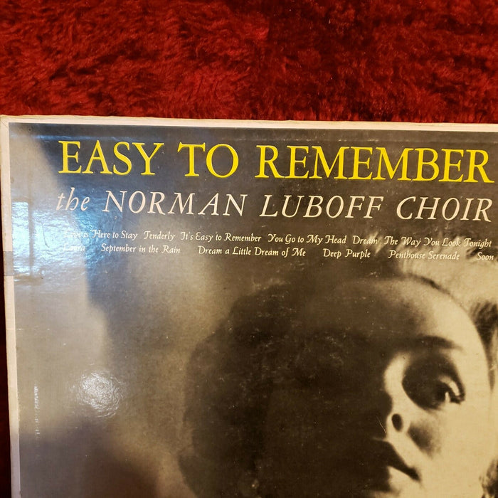 "Norman Luboff Choir, Easy to Remember 10"" Philips B-07658-R Mono LP"