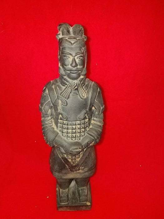 Samurai Ceramic, Clay Figure Statue