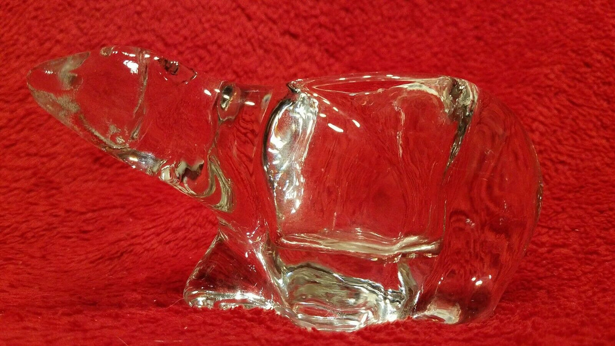 Indiana Crystal Glass Polar Bear Votive Holder, Portavelas, Cristal