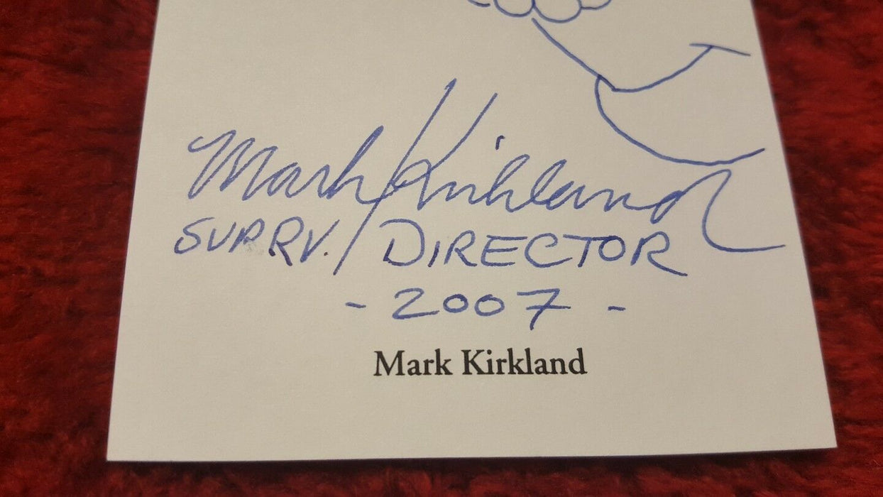 The Simpsons Signed by Director Mark Kirkland 3.5x8 Index SKETCH Card, Marge