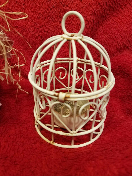 2 Metal Birdcage Votive Candle Holder 1 Wood Birdhouse Votive Candle Holder
