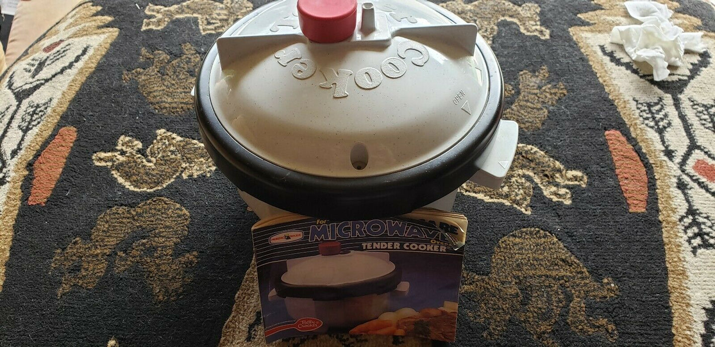 VINTAGE NORDIC WARE COOKWARE MICROWAVE TENDER COOKER w/ manual