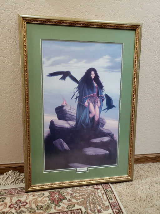 Ornate Framed Double Matted Print D&D Inspired titled Ravenstone