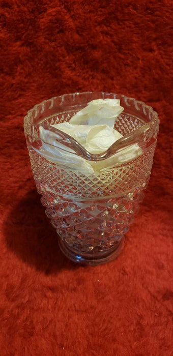 Intricate Designs Cut Into Crystal Creamer - Nice Capacity Size
