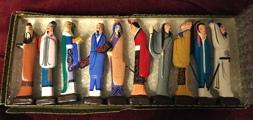 Collectible 1950-1960's Chinese Pencil Figurines- Hand Painted