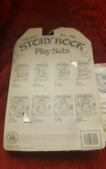 Alice in Wonderland StoryBook Set with 4 Characters, + bonus Carroll Book