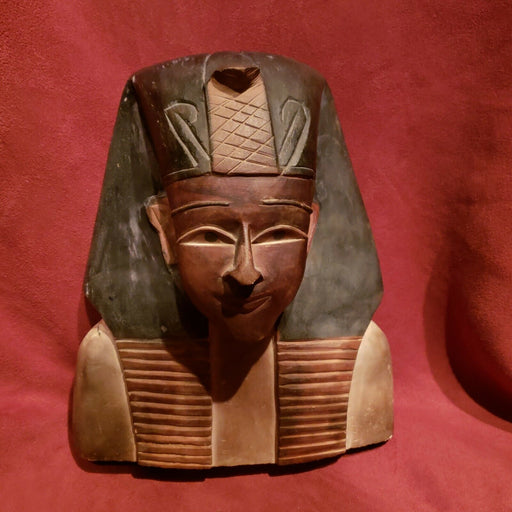 "Egyptian Art Bust Stone Heavy Statue Pharoah 8.5"" Figure"