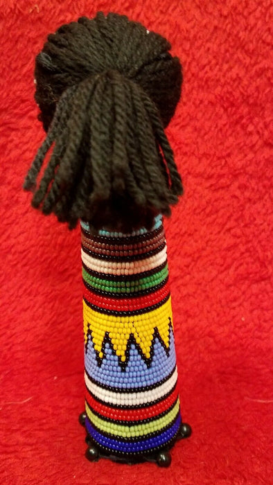 Hand Crafted Hand Beaded African Doll - Gorgeous Multi-Color!