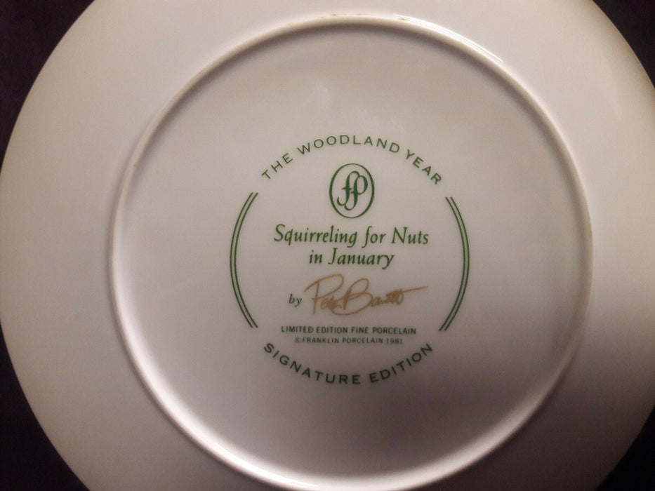 1981 Franklin Porcelain Pete Banetts The Woodland Edition Squrreling For Nuts
