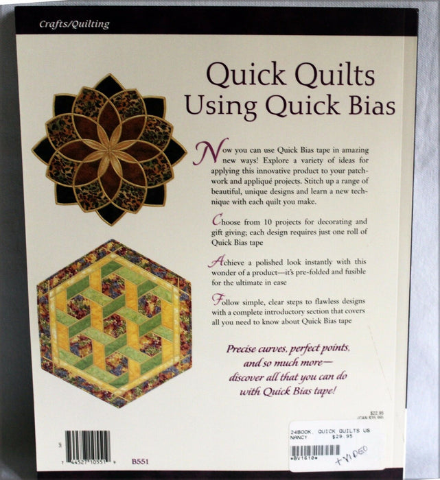 Quick Quilting using Quick Bias by Gretchen K. Hudock Book