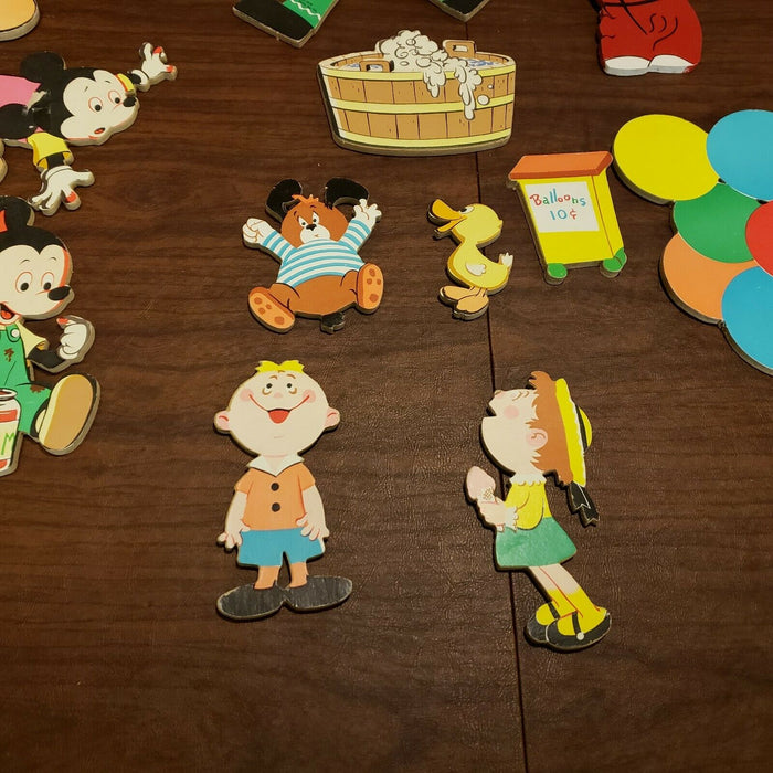 Lot 2 Sets: Vtg 1973 The Dolly Toy Co. & Disney Productions Cardboard Cutouts