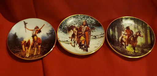 Hamilton Collection Set of 3 Mini Plates- Mystic Warrior Collection 1997