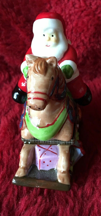 Santa Riding a Reindeer Trinket box