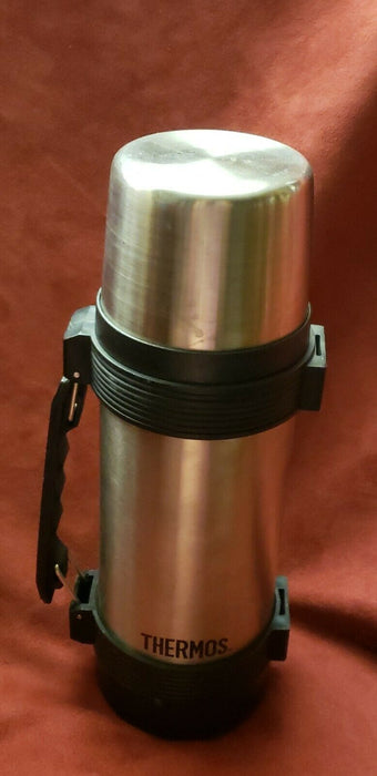 Thermos Stopper #650 1 liter insulated stainless steel coffee mug bottle