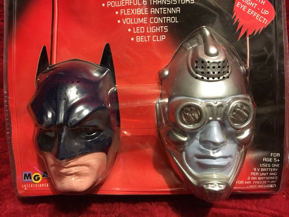 Batman and Mr. Freeze 1997 Walkie Talkies with light up eye effects