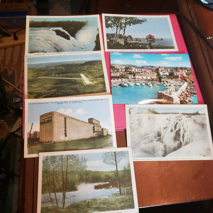 Lot 28 Int'l vintage POSTCARDS 1940's-1960's, variety of clean & written on