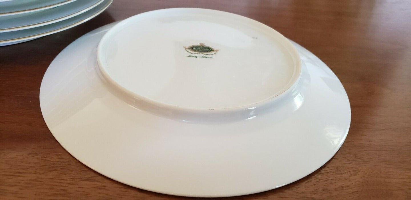 LOT 8: Rosenthal Continental GRAY DAWN GOLD Rimmed Dinner Plate, 10.5""