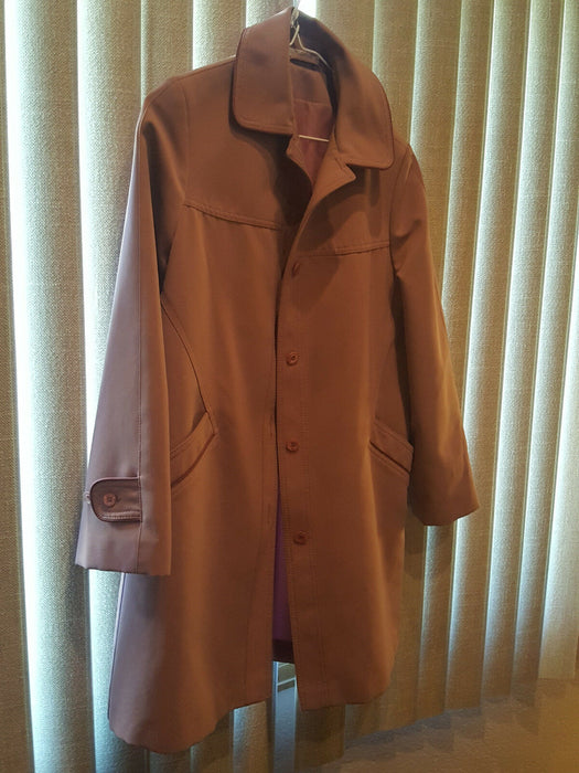 Forecaster Boston Trench Warm Winter Coat Jacket Mauve Women's Size 7/8