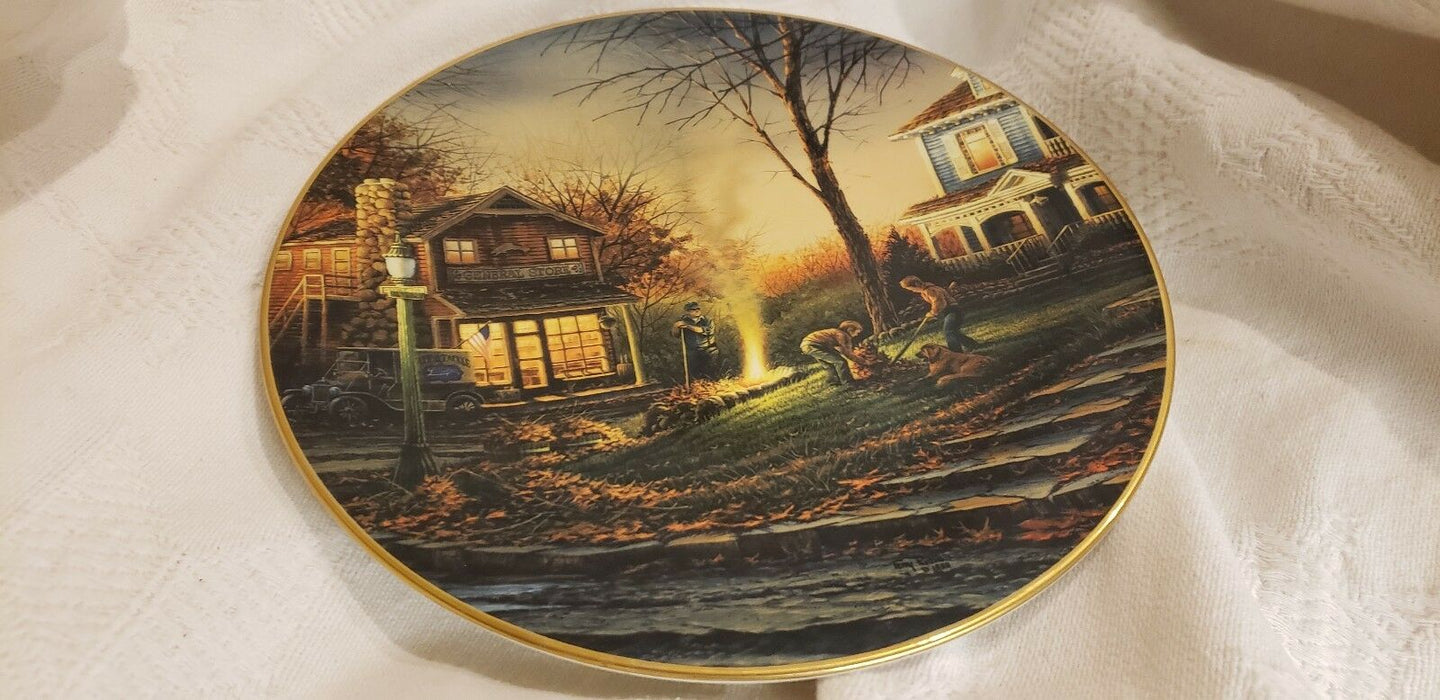 """Aroma of Fall"" Collector Plate by Terry Redlin #8858 Hadley House 1992"