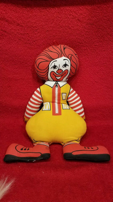"123 Vintage Plushies 1 16"" Ronald McDonald Doll 1 Tall Black Cat 1 Lullabear"