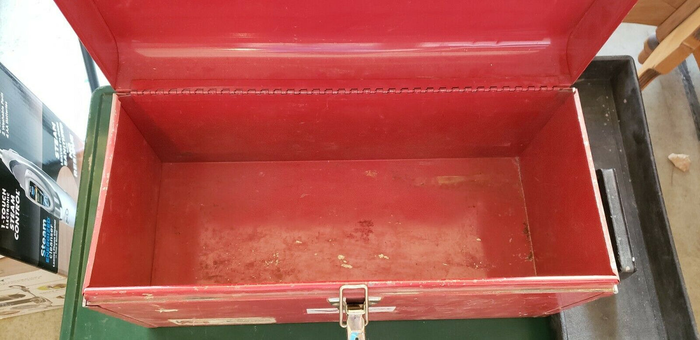 Vintage ALL Metal American Made Tool Box Chest / Tray USA