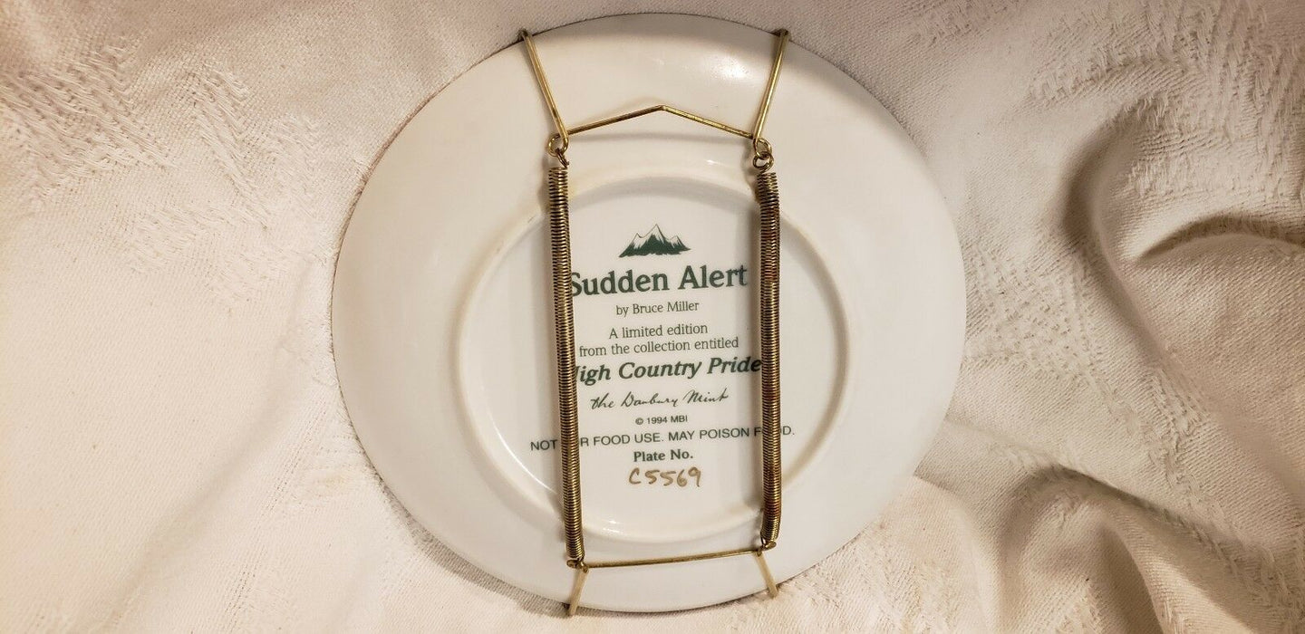 Lot 2:  Danbury Mint BRUCE MILLER COLLECTION HIGH COUNTRY PRIDE PLATE