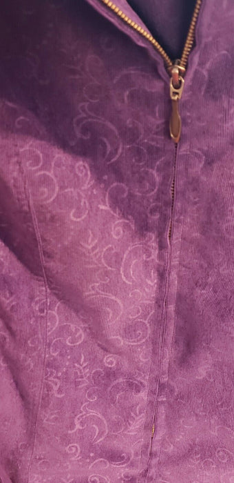 Women's Christopher and Banks Purple Tapestry Zippered Jacket Size L