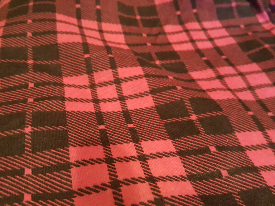3yd & 60in Magenta Pink and Black Polyester Fabric
