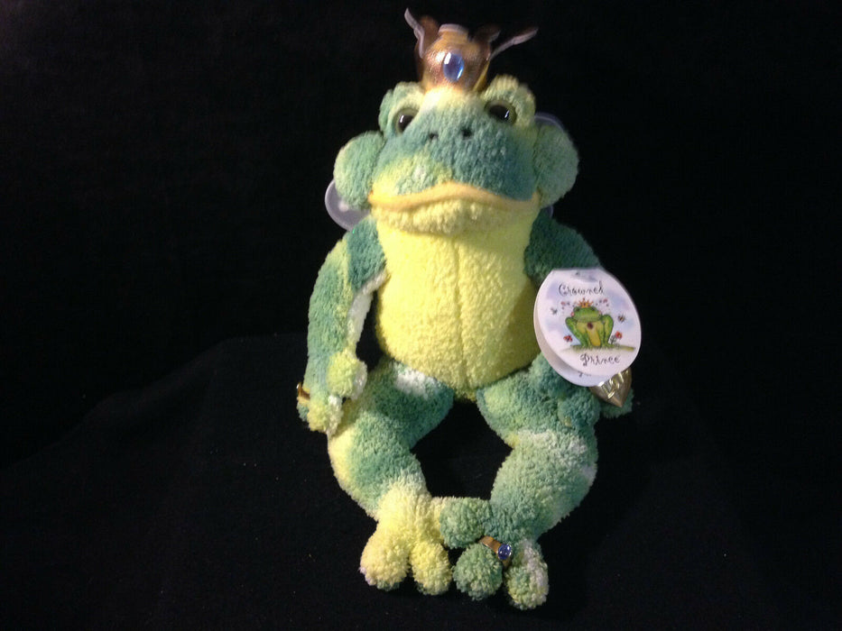 Filbert the Crowned Prince Stuffed Animal Frog with Adornments