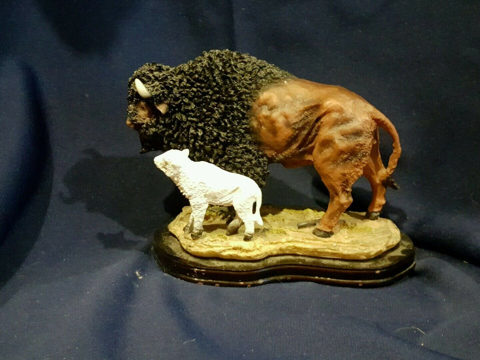 WESTLAND Resin Buffalo MOM & BABY FIGURE 8 inches