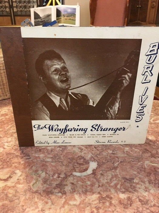 BURL IVES The Wayfaring Stranger STINSON A 345 album set 3x78s ALAN LOMAX Folk