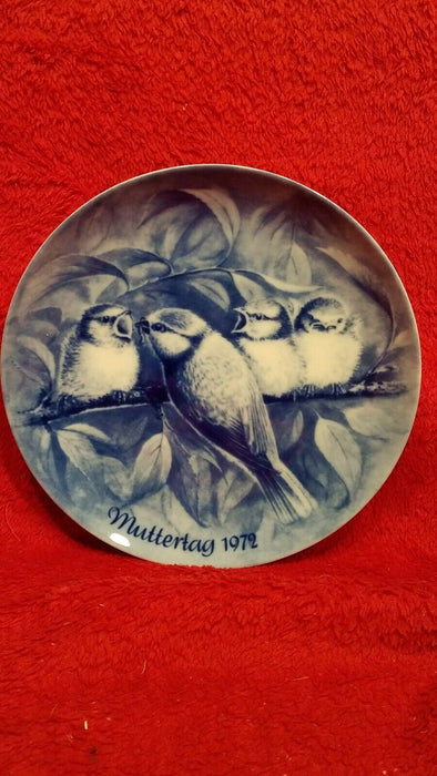 Berlin Design Muttertag Mother's Day 1972 Collector's Plate Bird & Babies