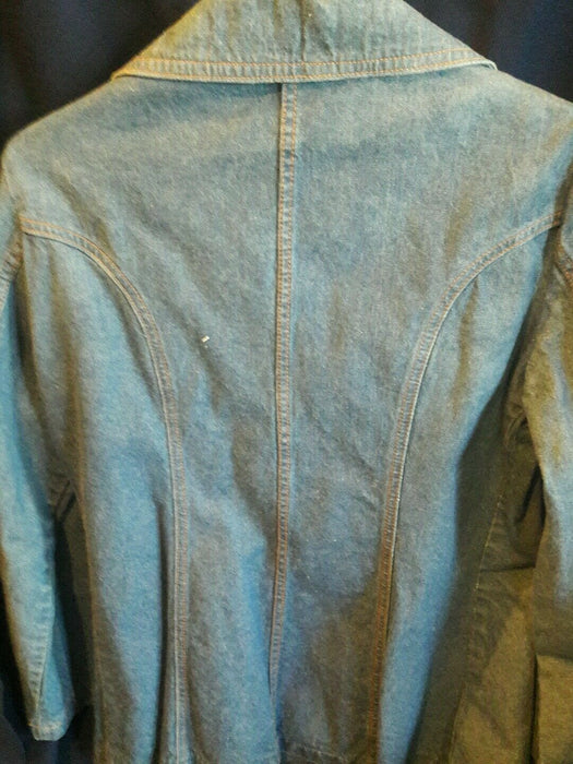 Vintage Woman's Indigo Denim Work Barn Jacket Made In Japan Sear's Fashions