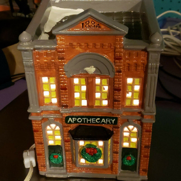 "Dept 56 Snow Villages   ""Apothecary""  w/ Box #5076-8"