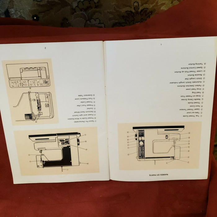 White Esp Model 4000 Sewing Machine Manual