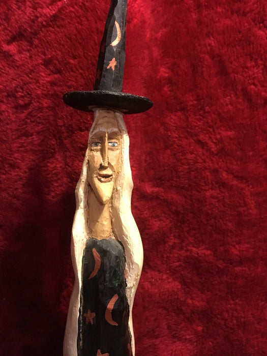 Anthony Costanza Captured Carvings Tall Witch And Ghost-retired