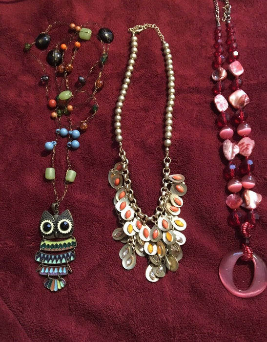 Lot of 3: Fun and Colorful Necklaces