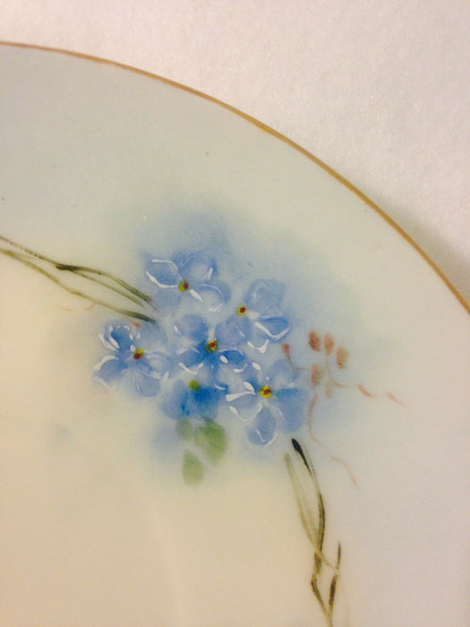 O.& E.G. Royal Austria Saucer Hand Painted Blue Flowers - Gold-Colored Edging